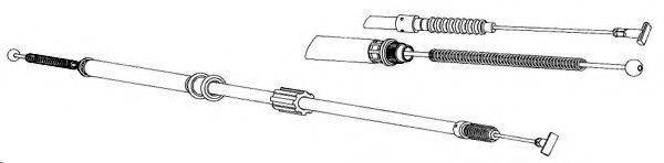 KAWE AR02130 Трос, стояночная тормозная система