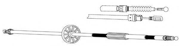 KAWE AU02168 Трос, стояночная тормозная система