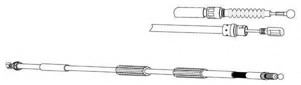 KAWE AU02171 Трос, стояночная тормозная система