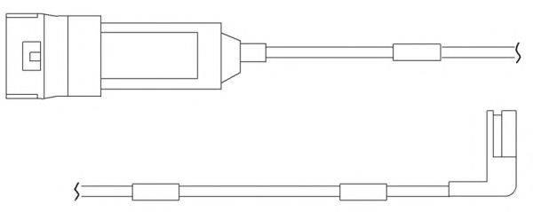KAWE WS0122A Сигнализатор, износ тормозных колодок