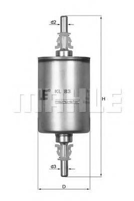 MAHLE ORIGINAL KL83 Топливный фильтр