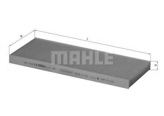 MAHLE ORIGINAL LA45 Фильтр, воздух во внутренном пространстве