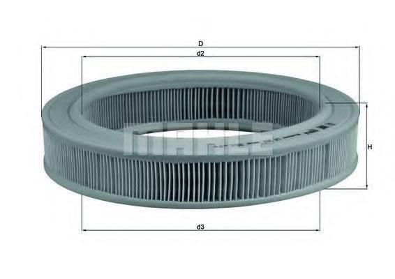 MAHLE ORIGINAL LX203 Воздушный фильтр