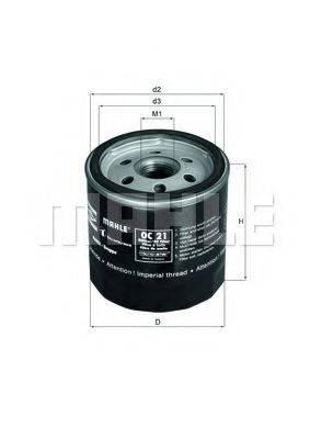 MAHLE ORIGINAL OC21OF Масляный фильтр