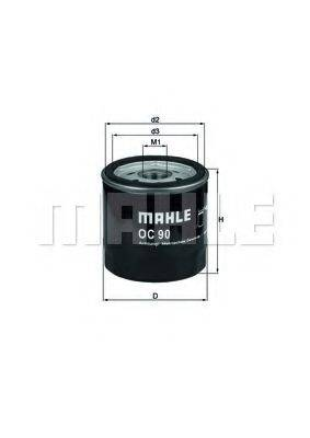 MAHLE ORIGINAL OC90OF Масляный фильтр
