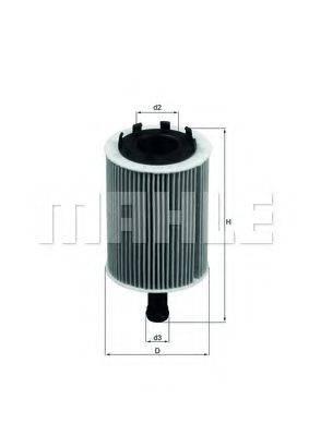 MAHLE ORIGINAL OX188D Масляный фильтр