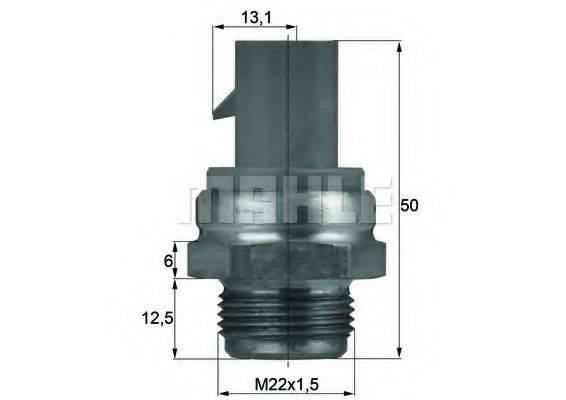 MAHLE ORIGINAL TSW14D Термовыключатель, вентилятор радиатора