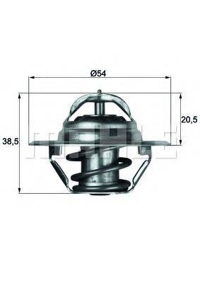 MAHLE ORIGINAL TX387D Термостат, охлаждающая жидкость