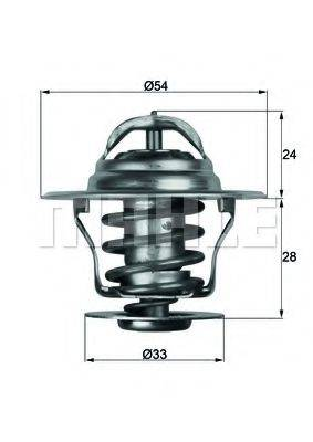 MAHLE ORIGINAL TX1171D Термостат, охлаждающая жидкость