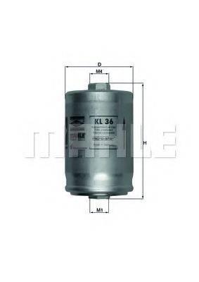 MAHLE ORIGINAL KL36 Топливный фильтр