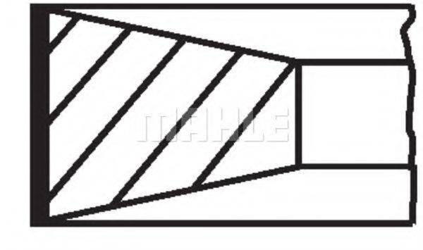 MAHLE ORIGINAL 00925N0 Комплект поршневых колец