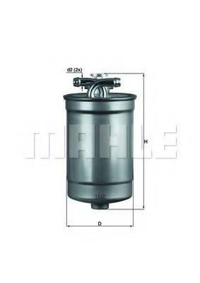 MAHLE ORIGINAL KL554D Топливный фильтр