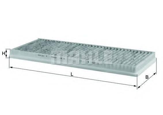 MAHLE ORIGINAL LAK45 Фильтр, воздух во внутренном пространстве