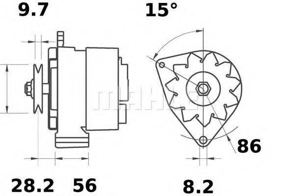 MAHLE ORIGINAL MG318 Генератор