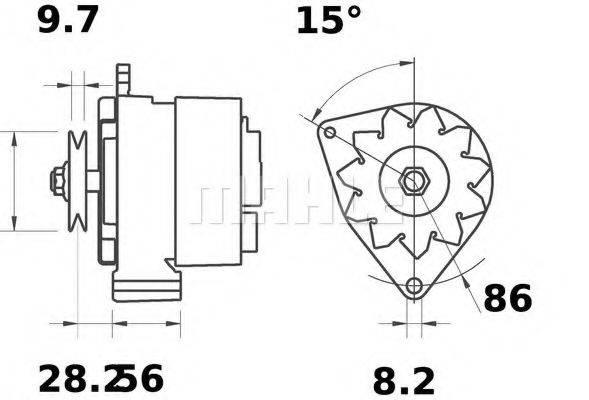MAHLE ORIGINAL MG218 Генератор