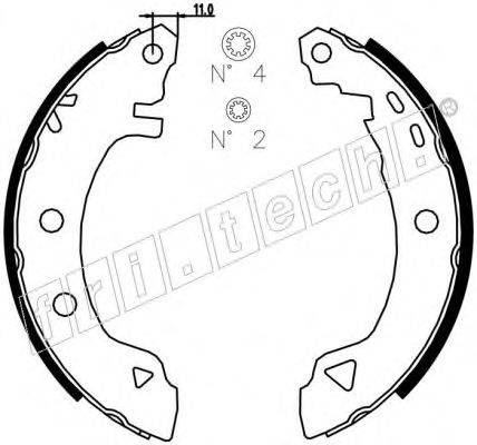 FRI.TECH. 1004008 Комплект тормозных колодок