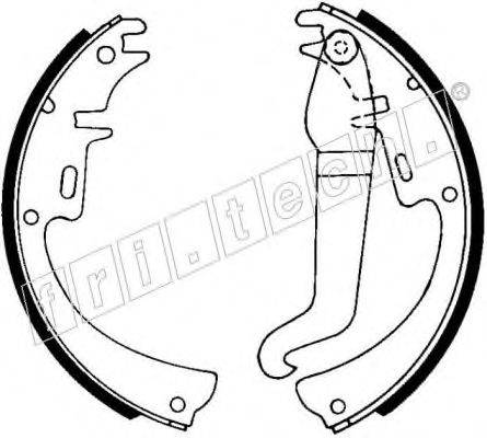 FRI.TECH. 1073154 Комплект тормозных колодок