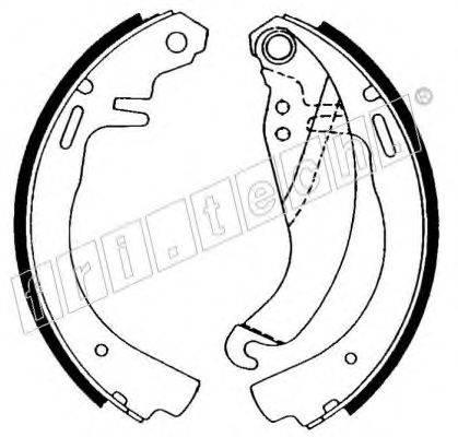 FRI.TECH. 17073 Комплект тормозных колодок
