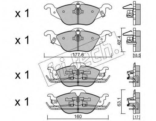 FRI.TECH. 2660 Комплект тормозных колодок, дисковый тормоз