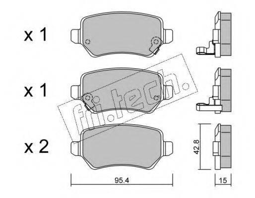 FRI.TECH. 5580 Комплект тормозных колодок, дисковый тормоз