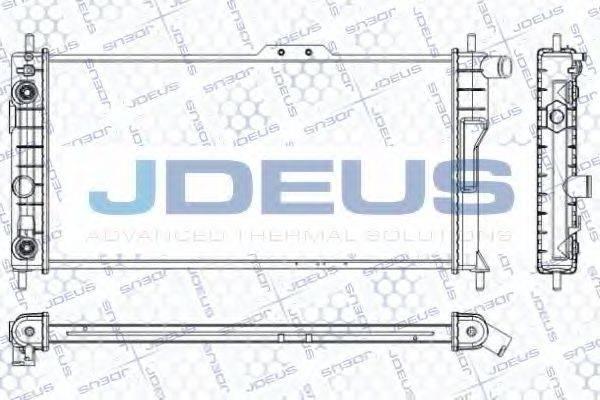 JDEUS RA0200501 Радиатор, охлаждение двигателя