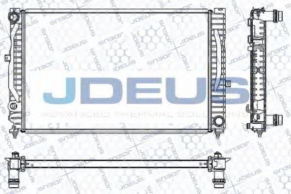 JDEUS RA0010230 Радиатор, охлаждение двигателя