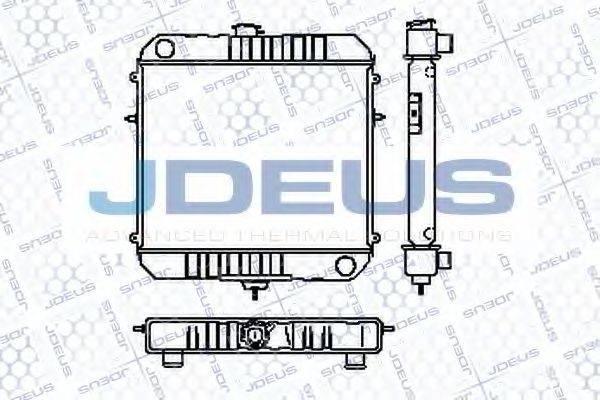 JDEUS RA0200170 Радиатор, охлаждение двигателя