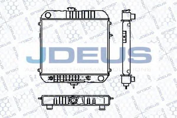 JDEUS RA0200180 Радиатор, охлаждение двигателя