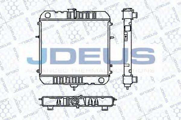 JDEUS RA0200300 Радиатор, охлаждение двигателя