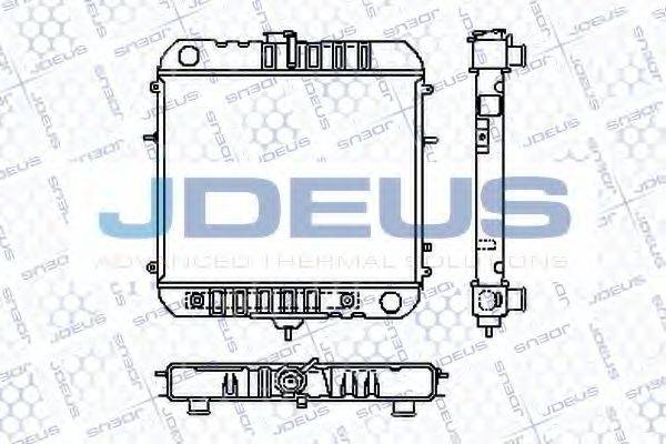 JDEUS RA0200310 Радиатор, охлаждение двигателя