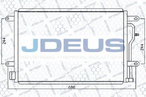 JDEUS 701M14 Конденсатор, кондиционер