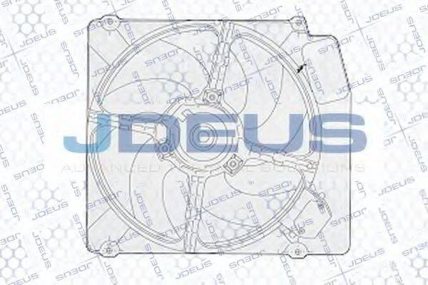 JDEUS EV02251 Вентилятор, охлаждение двигателя
