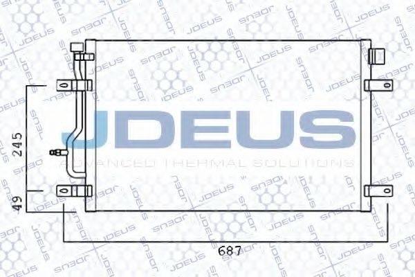 JDEUS 701M35 Конденсатор, кондиционер
