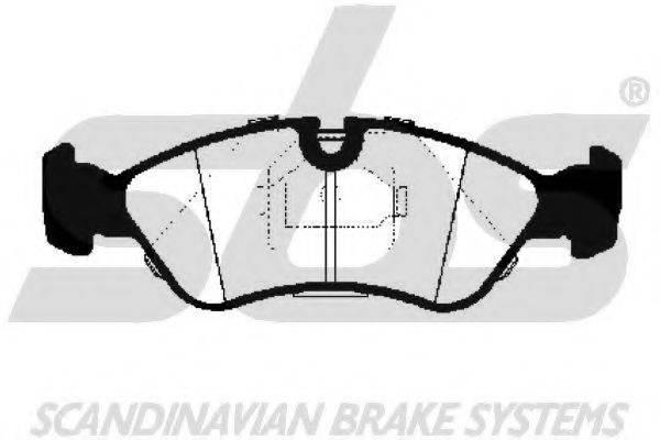 SBS 1501223607 Комплект тормозных колодок, дисковый тормоз