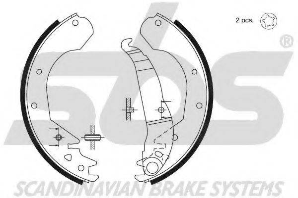 SBS 18492736410 Комплект тормозных колодок