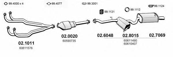 ASSO ART0104 Система выпуска ОГ