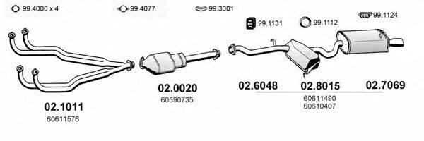 ASSO ART0105 Система выпуска ОГ