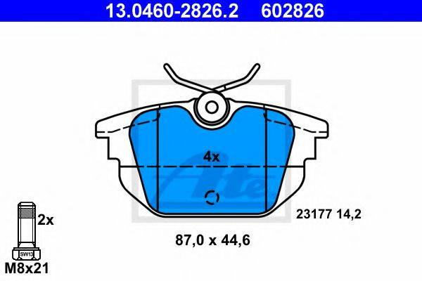 ATE 13046028262 Комплект тормозных колодок, дисковый тормоз
