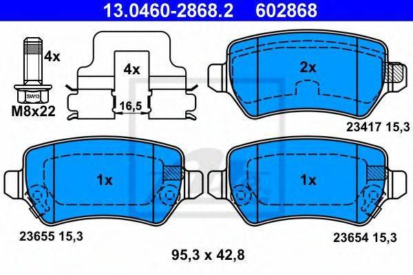 ATE 13046028682 Комплект тормозных колодок, дисковый тормоз