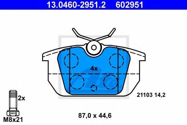ATE 13046029512 Комплект тормозных колодок, дисковый тормоз