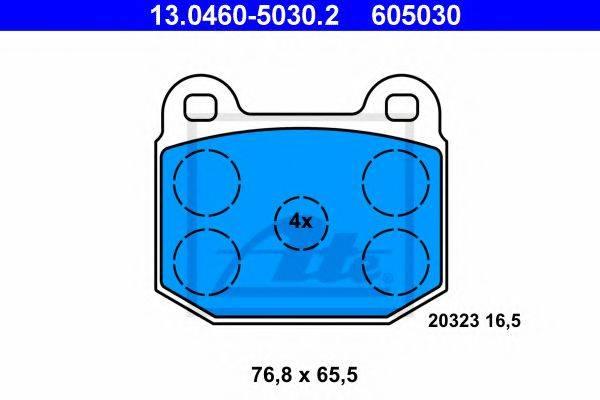 ATE 13046050302 Комплект тормозных колодок, дисковый тормоз