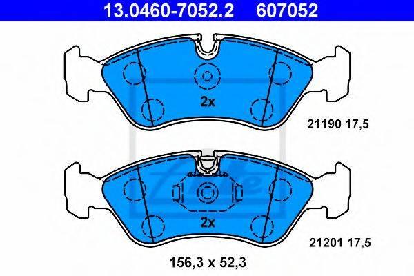 ATE 13046070522 Комплект тормозных колодок, дисковый тормоз