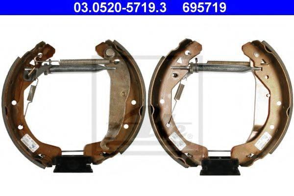 ATE 03052057193 Комплект тормозных колодок