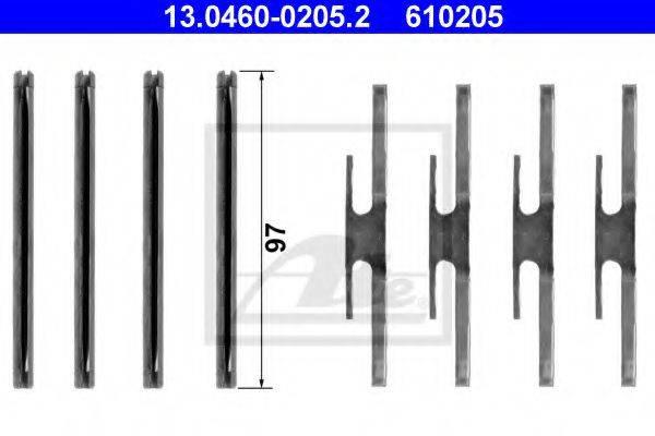 ATE 13046002052 Комплектующие, колодки дискового тормоза