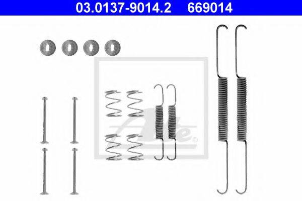 ATE 03013790142 Комплектующие, тормозная колодка