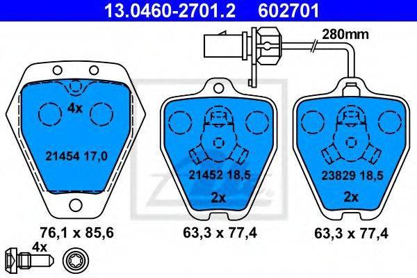 ATE 13046027012 Комплект тормозных колодок, дисковый тормоз