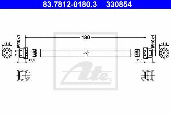 ATE 83781201803 Тормозной шланг