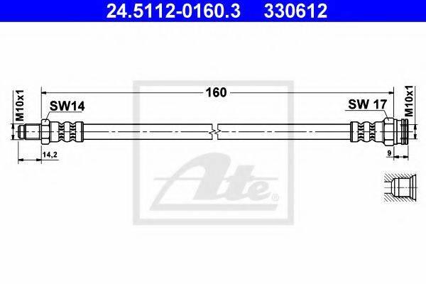 ATE 24511201603 Тормозной шланг