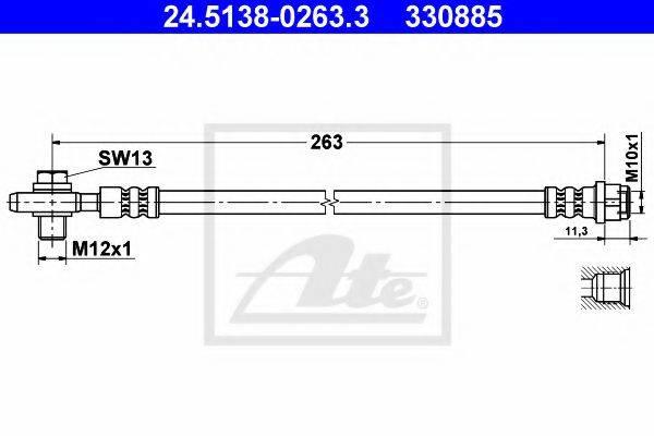 ATE 24513802633 Тормозной шланг