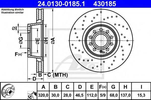 ATE 24013001851 Тормозной диск